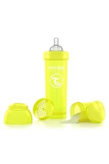 Антиколиковая желтая бутылочка Twistshake для кормления, 330 мл