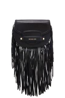 Черная сумка с бахромой Cary Michael Kors