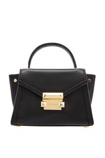 Черная кожаная сумка Whitney Michael Kors