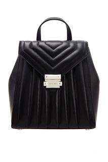 Черный кожаный рюкзак Whitney Michael Kors