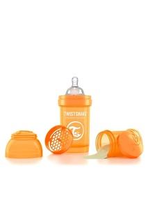 Антиколиковая оранжевая бутылочка для кормления, 180 мл Twistshake