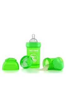 Антиколиковая зеленая бутылочка для кормления, 180 мл Twistshake