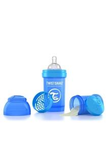 Антиколиковая синяя бутылочка для кормления, 180 мл Twistshake