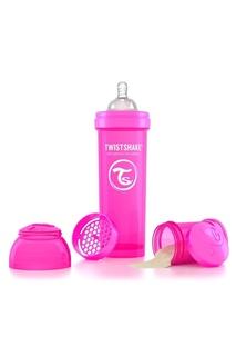 Антиколиковая розовая бутылочка для кормления, 330 мл Twistshake
