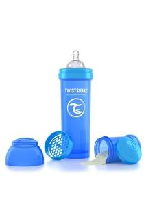 Антиколиковая синяя бутылочка для кормления, 330 мл Twistshake