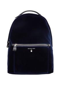 Синий бархатный рюкзак Nylon Kelsey Michael Kors