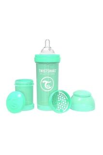 Антиколиковая зеленая бутылочка Twistshake для кормления, 260 мл