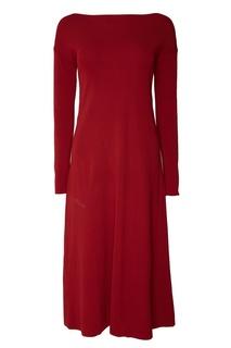 Бордовое платье Adolfo Dominguez