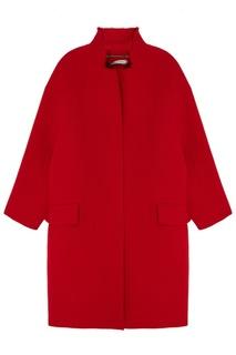 Красное пальто оверсайз Белка