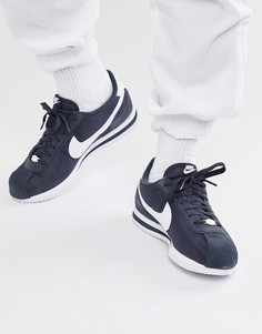 Синие нейлоновые кроссовки Nike Cortez 819720-411 - Синий