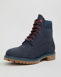 Темно-синие ботинки высотой 6 дюймов Timberland - Темно-синий