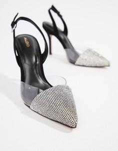 Остроносые туфли на каблуке с открытой пяткой ALDO - Черный