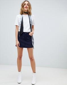 Вельветовая мини-юбка Esprit - Темно-синий