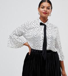 Блузка с принтом и завязкой на бант Lovedrobe - Мульти