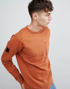 Оранжевый свитшот с круглым вырезом Pretty Green - Оранжевый