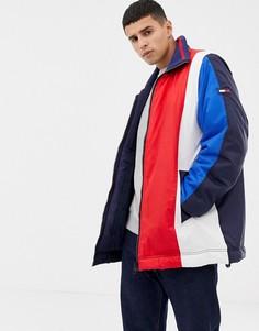 Oversize-куртка в стиле колор блок Tommy Hilfiger - Черный