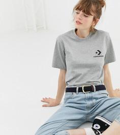 Серая oversize-футболка с логотипом Converse - Серый