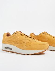 Светло-коричневые кроссовки-премиум Nike Air Max 1 875844-701 - Рыжий