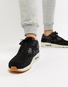 Черные кожаные кроссовки Nike Air Max 90 Ultra 924447-003 - Черный