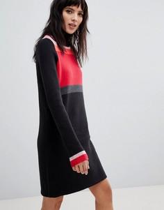 Платье-джемпер с высоким воротом Free People - Черный