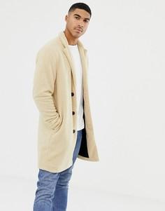 Светло-коричневая куртка с искусственным мехом Pull&Bear - Рыжий Pull&;Bear