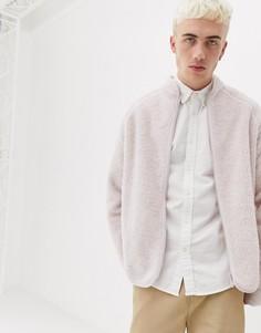 Светло-розовый джемпер на молнии Weekday Shaun - Розовый