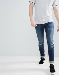 Рваные джинсы слим United Colors of Benetton - Синий