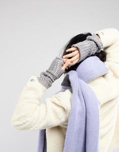 Серебристые перчатки без пальцев Vincent Pradier - Серый