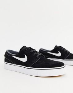 Черные кроссовки Nike Sb Stefan Janoski - Черный