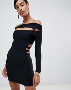 Платье мини с открытыми плечами ASOS DESIGN - Черный