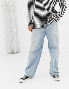 Голубые джинсы свободного кроя Cheap Monday - Черный