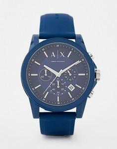 Подарочный набор с часами и багажной биркой Armani Exchange AX7107 Outerbanks - Синий