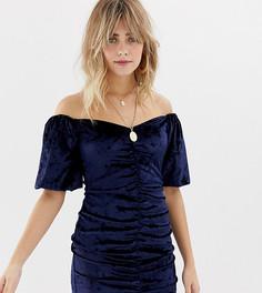 Бархатное платье мини с пышными рукавами Reclaimed Vintage Inspired - Мульти