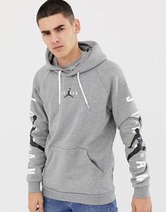 Худи серого цвета с логотипом Nike Jordan AT4911-091 - Серый
