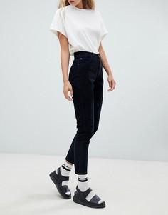 Вельветовые джинсы в винтажном стиле с завышенной талией Dr Denim Nora - Черный