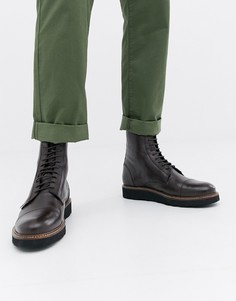 Ботинки на толстой подошве со шнуровкой Farah Jeans - Коричневый
