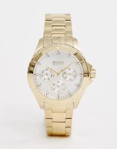 Золотистые наручные часы BOSS 1502445 Premiere - Золотой