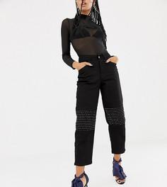 Зауженные джинсы с отделкой стразами на коленях ASOS DESIGN x LaQuan Smith - Черный