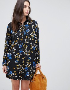 Платье-рубашка с цветочным принтом Liquorish - Черный