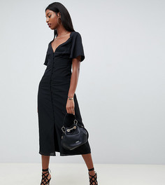 Платье макси с рукавами клеш Fashion Union tall - Черный