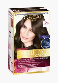 """Краска для волос LOreal Paris LOreal """"Excellence"""", оттенок 5.00, Шоколадный"""