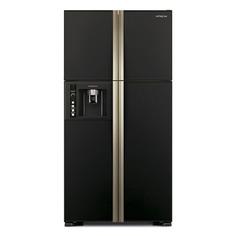 Холодильник HITACHI R-W 662 PU3 GBK, двухкамерный, черное стекло