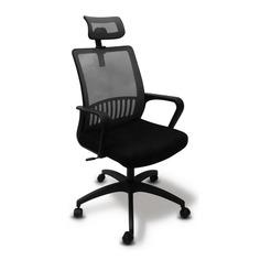 Кресло БЮРОКРАТ MC-201-H, на колесиках, ткань, серый/черный [mc-201-h/dg/tw-11]