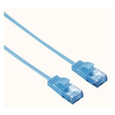 Патч-корд Hama Slim-Flexible UTP cat6 solid 1.5м синий RJ-45 (m)-RJ-45 (m)