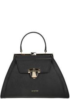 Кожаная сумка в форме трапеции с одним отделом Cromia