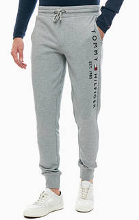 Хлопковые брюки джоггеры с вышивкой Tommy Hilfiger