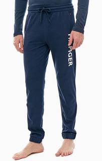 Синие хлопковые брюки джоггеры Tommy Hilfiger