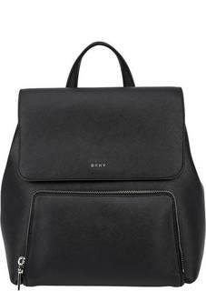 Рюкзак из сафьяновой кожи с откидным клапаном Dkny