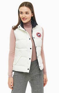 Белый жилет с пуховым наполнителем Freestyle Vest Canada Goose