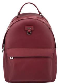 Бордовый кожаный рюкзак Favola Furla